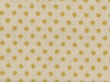 Flax Printed Dot Cotton Linen Natural and Gold