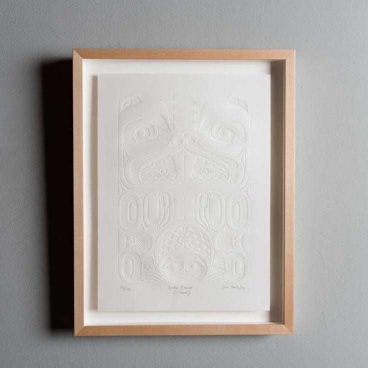 "Famred ""Haida Beaver T'sang"" limited edition embossed print by Haida artist Jim Hart"