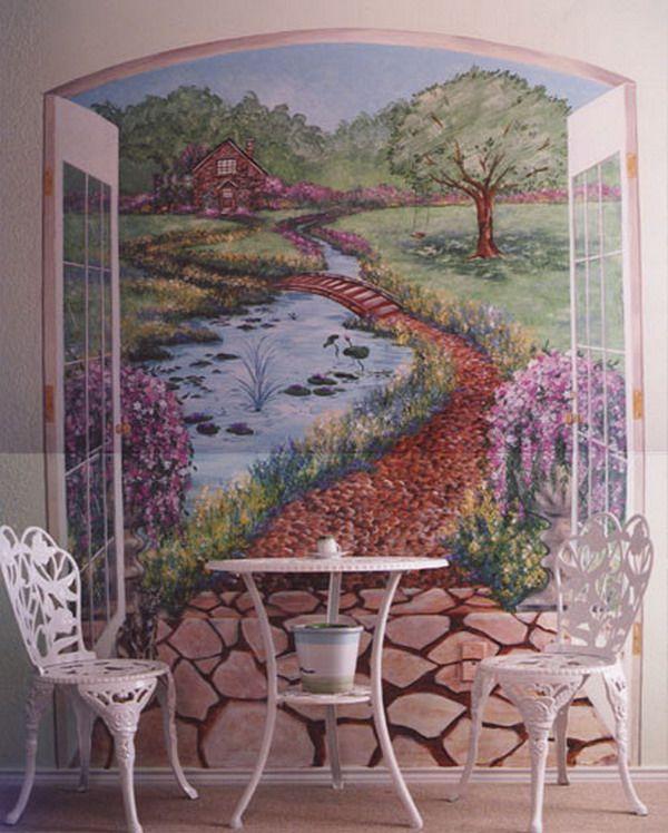 25 Unique Garden Mural Ideas On Pinterest Murals