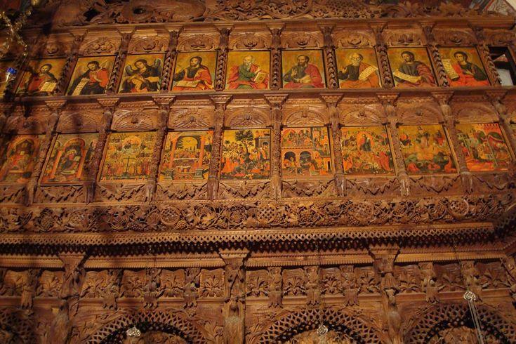 Iconostasis of St. John of Bigori Monastery, Macedonia More church interiors: http://whispersofanimmortalist.blogspot.com/2015/04/church-interior-1.html