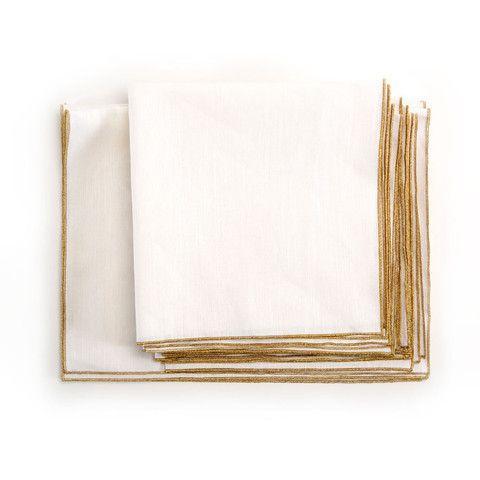 Spun in Bronze Tea Towel: White – Amanda Hamilton Home Accessories