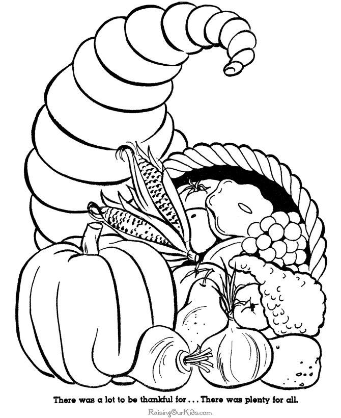thanksgiving cornucopia coloring pages - photo#24