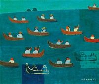 kim whan-ki, boating, 1951