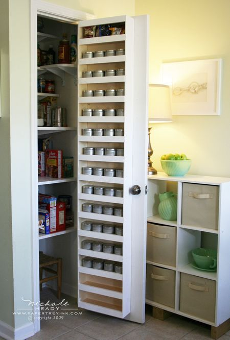 Behind The Door Spice Rack Get Organised Pinterest