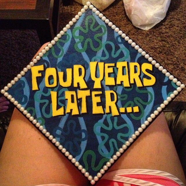 Spongebob inspired graduation cap