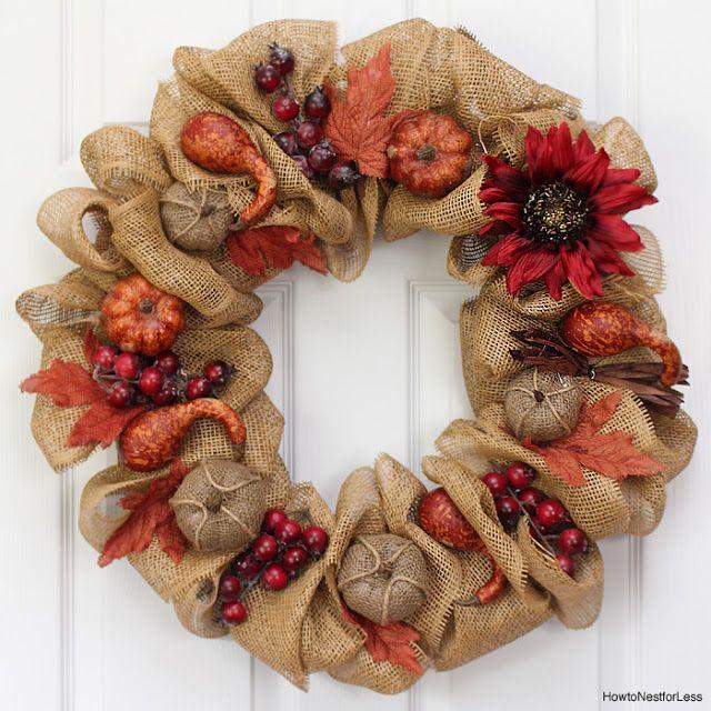 Осенний венок своими руками