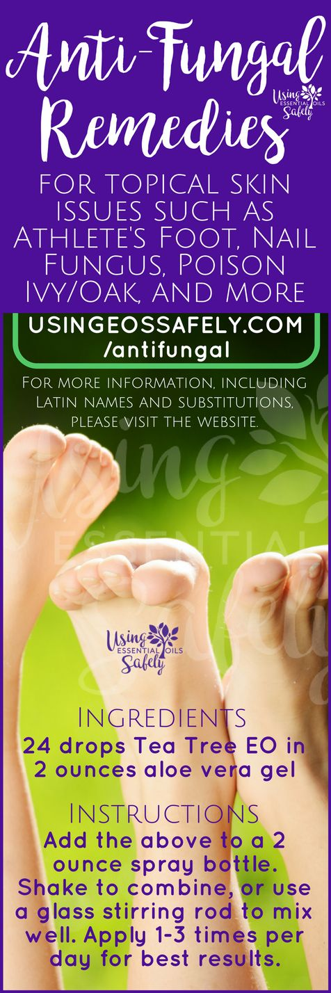 Anti-Fungal remedies for topical skin issues such as Athlete's Foot, Nail Fungus, Poison Ivy/Oak, and more – essential oil and hydrosol options | Using Essential Oils Safely