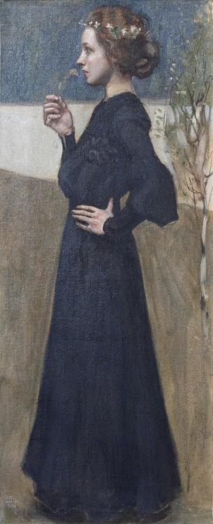 Spring: Portrait of Anna Stina Sloor, 1903 by Akseli Gallén-Kallela (1865-1931)