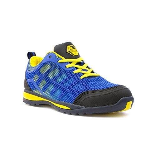 Oferta: 33.99€. Comprar Ofertas de Earth Works Safety - Zapato de seguridad, de malla, azul y amarillo, para hombre EarthWorks - Talla 11 UK / 46 EU - Azul barato. ¡Mira las ofertas!