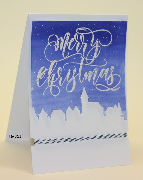 #SSS #SSSfave Simon says Stamp Merry Christmas embossed with Wow! and Ecoline watercolor with video https://www.youtube.com/watch?v=7f4pGGCbQ9o