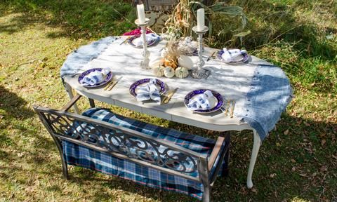 Outdoor dining table inspo!
