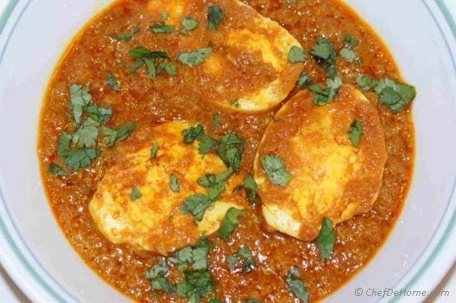 Egg is a versatile cooking ingredient. Many people who do not eat meat eat eggs. Delicious and quick this curry can be ready in 25 minutes. I call it easiest curry and everyone's favorite. Meat lov...