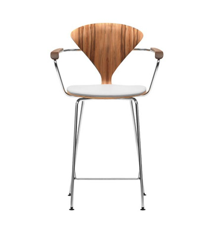 Cherner Counter Stool With Arms Upholstered Seat Counter