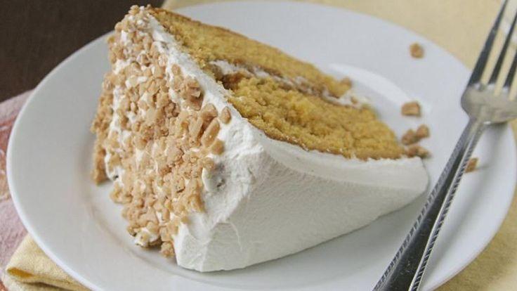 Enjoy this delicious butter brickle cake made using Betty Crocker® SuperMoist® cake mix – a wonderful dessert.