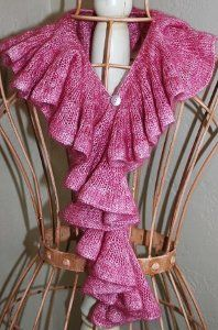 This beautiful and classic free knitting pattern is perfect for the special woman in your life. Give any outfit a girly touch with this Romantic Ruffle Scarf.