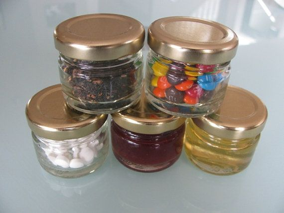 25  Empty 1 oz Clear Glass Jars for Favors Party by EdithsSupplies, $16.00 - for wedding favours? Sweets / home-made jam?