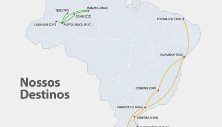 Total Linhas Aereas route map