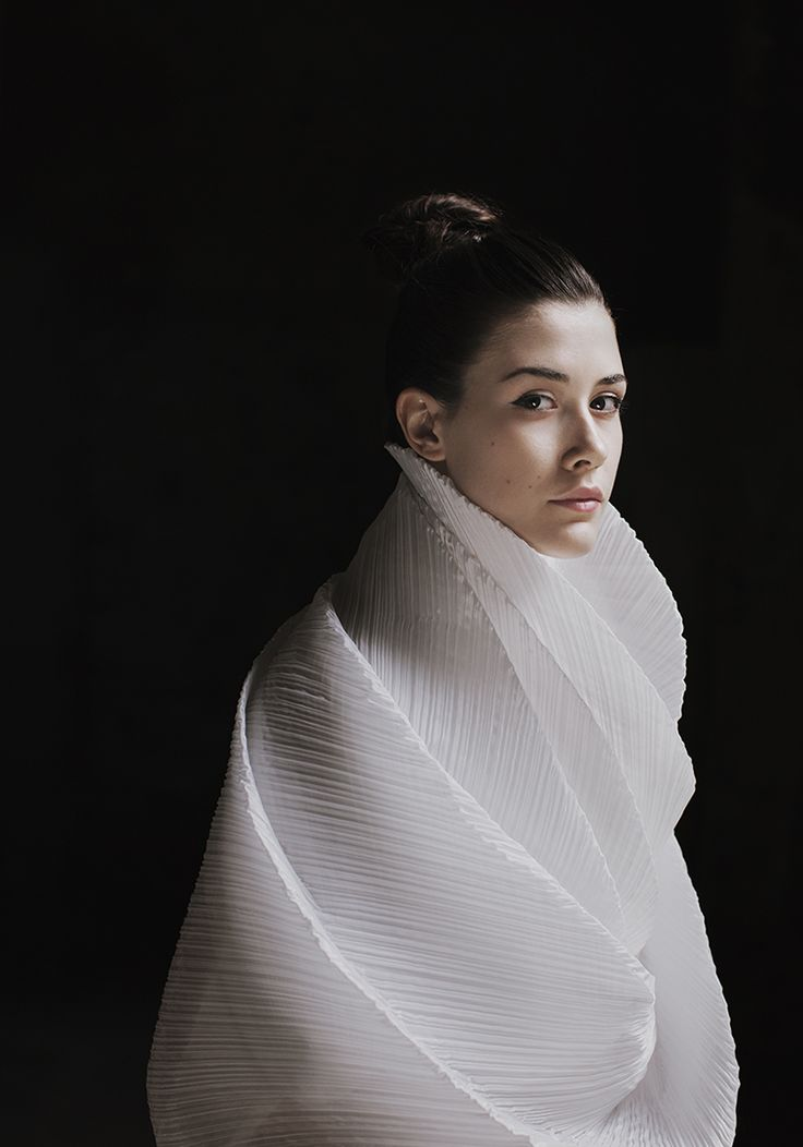 """""""Japanese Renaissance"""" — Photographer: Giuseppe Gradella Designer: Issey Miyake Model: Denise Beruffi"""