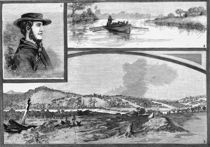 """1. - Portrait of John Batman, from a likeness supplied by his grandson. 2. - Batman's Ascent of the Yarra, 1835. - """"This Will be the Place for a Village!"""" 3. - View of Melbourne Taken in 1839, the Year of Batman's Death."""