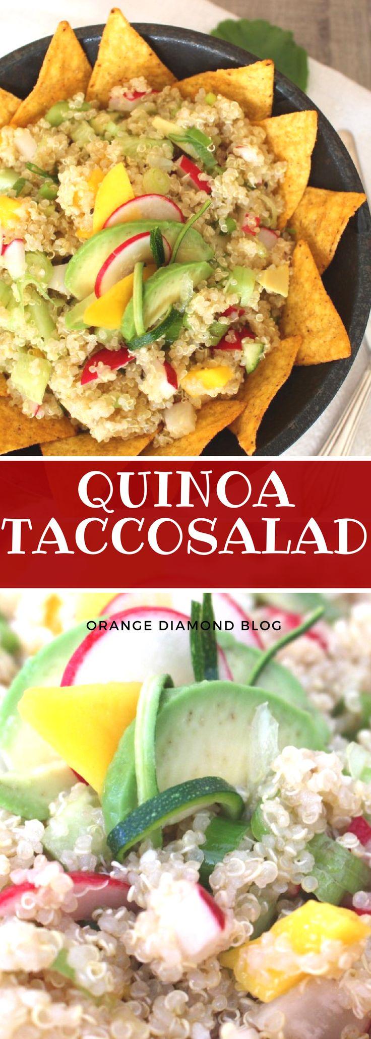 QUINOA - TACCOSALAT mit AVOCADO und MANGO! Sommerlicher Low-Carb Fitness-Salat.