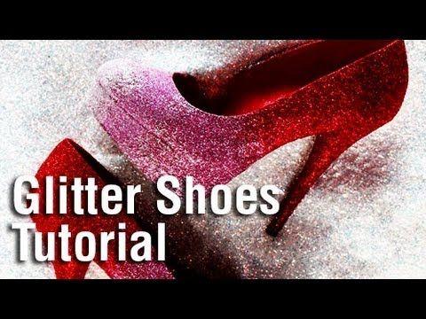 ▶ DIY Holiday Glitter Shoes using Tulip Fashion Glitter! - YouTube