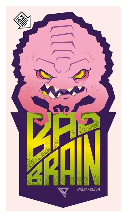 Bad brain sticker by paul panfalone via behance