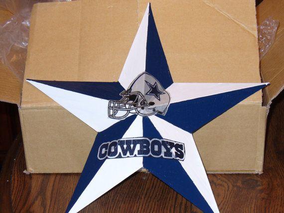 12 Dallas Cowboy metal star by lizziecrafts on Etsy, $10.75