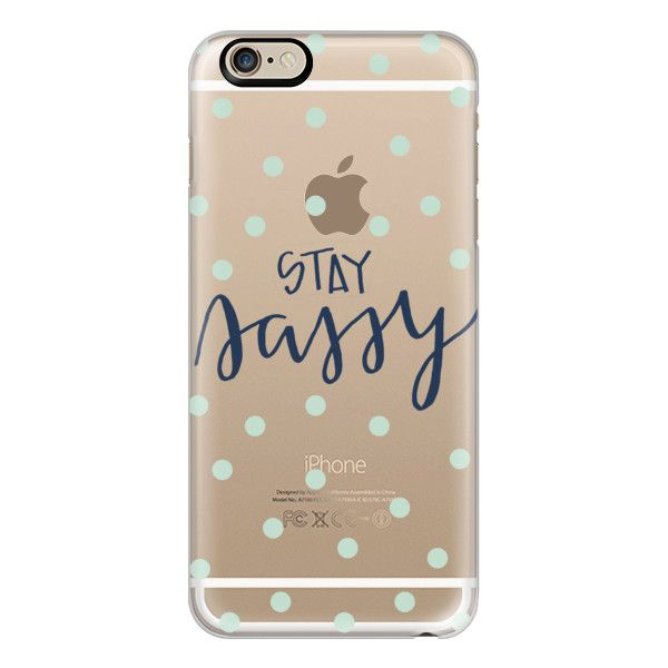 iPhone 6 Plus/6/5/5s/5c Case - Stay sassy - mint dots ($40) ❤ liked on Polyvore featuring accessories, tech accessories, phones, phone cases, iphone case, mint green iphone case, iphone cover case, apple iphone cases and polka dot iphone case