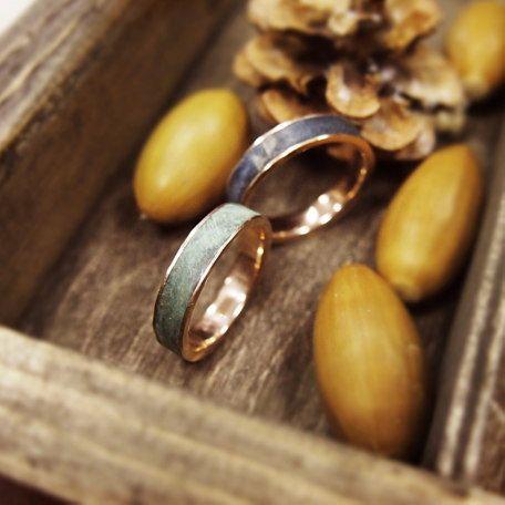 Обручальные кольца Gold and wood от Mikhail Rynkov
