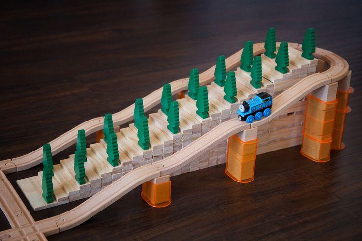 Wooden train layout ideas