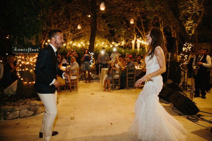 Casual Chic Wedding bride groom dancing happiness| lafete