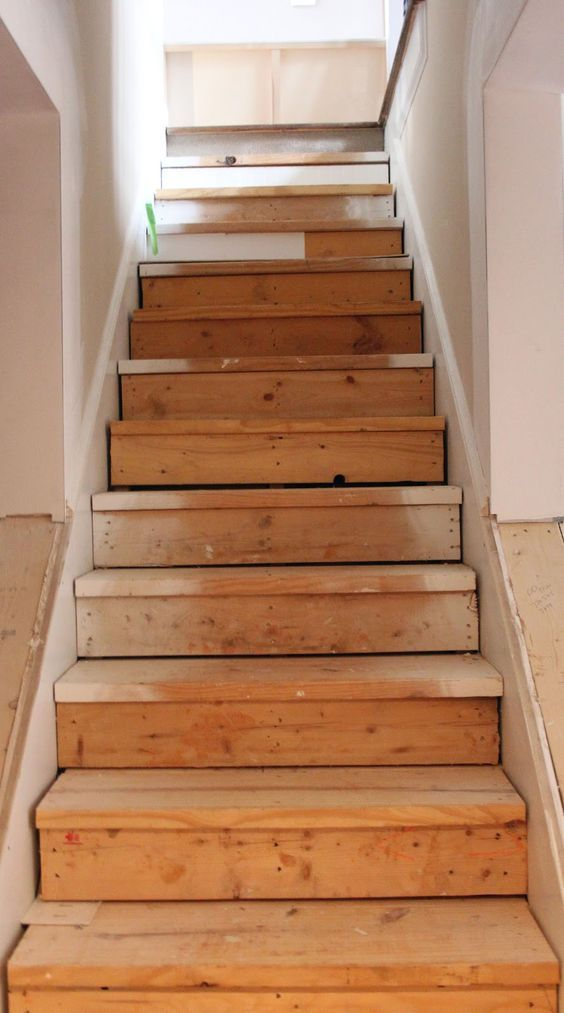 this is the best idea for updating stairs on a budget totally doing this once - Basement Umbau Ideen Auf Ein Budget