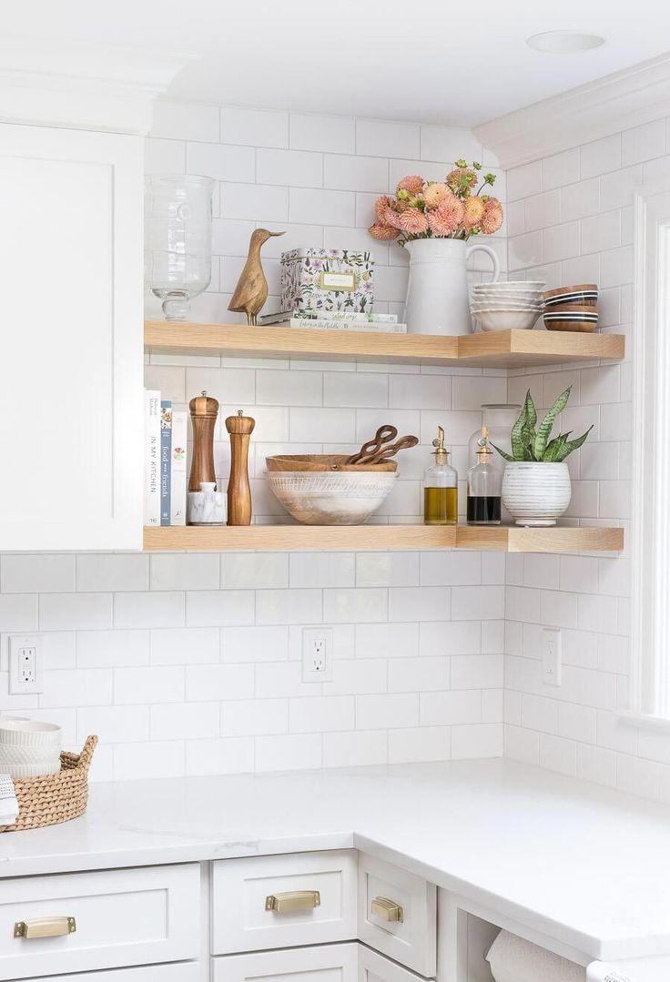 Unique Corner Cabinet Style White Kitchen Remodeling Open Kitchen Shelves Contemporary Kitchen