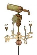 Weathervanes, Copper Weathervanes, Weather Vanes, Lightning Rods and Ornaments: Garden Wine Bottle
