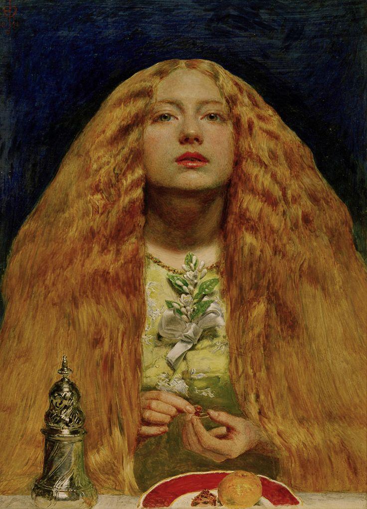ジョン・エヴァレット・ミレイ 「花嫁の付添い」1851 | 27.9x20.3cm | ケンブリッジ、フィッツウィリアム美術館