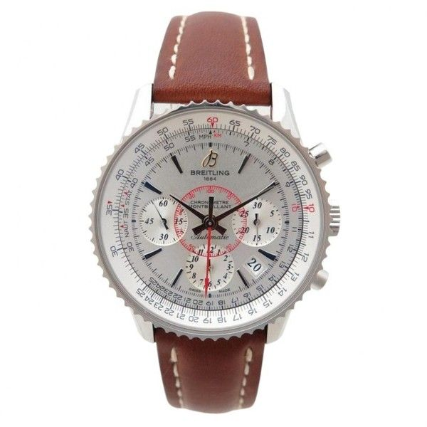 Pre-owned Breitling Montbrillant Watch (402.990 RUB) ❤ liked on Polyvore featuring men's fashion, men's jewelry, men's watches, silver, pre owned mens rolex watches, mens silver watches and breitling mens watches