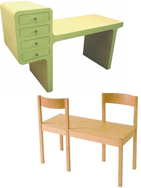 Dutch designer Richard Hutten.  Op zeventienjarige leeftijd schreef hij zich in op de Design Academy Eindhoven. Hij studeerde hier af in 1991 in hetzelfde jaar als Piet Hein Eek. Zijn afstudeerproject was een tafelconcept, een object dat bestaat uit verscheidene tafels, die door hun ontwerp geschikt zijn voor verschillende functies.