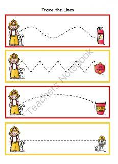 Preschool Printables: Fireman Toddler Printable