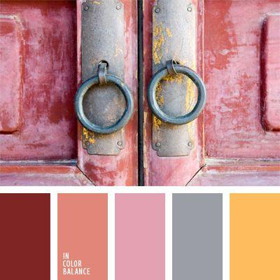 beige y rosado, castaño pálido, color gris azulado, color salmón, color salmón oscuro, combinaciones de colores, púrpura pálido, rojo oscuro, rosado y gris, tonos pastel, tonos rosados, tonos suaves.