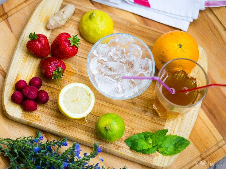 How about a homemade ice tea? Lemon, lime, orange, fresh strawberries, raspberries, ginger, few mint leaves, and tea, of course!   Like it? Diets, recipes, activities & more at... www.agnieszkasportygirl.blogspot.com