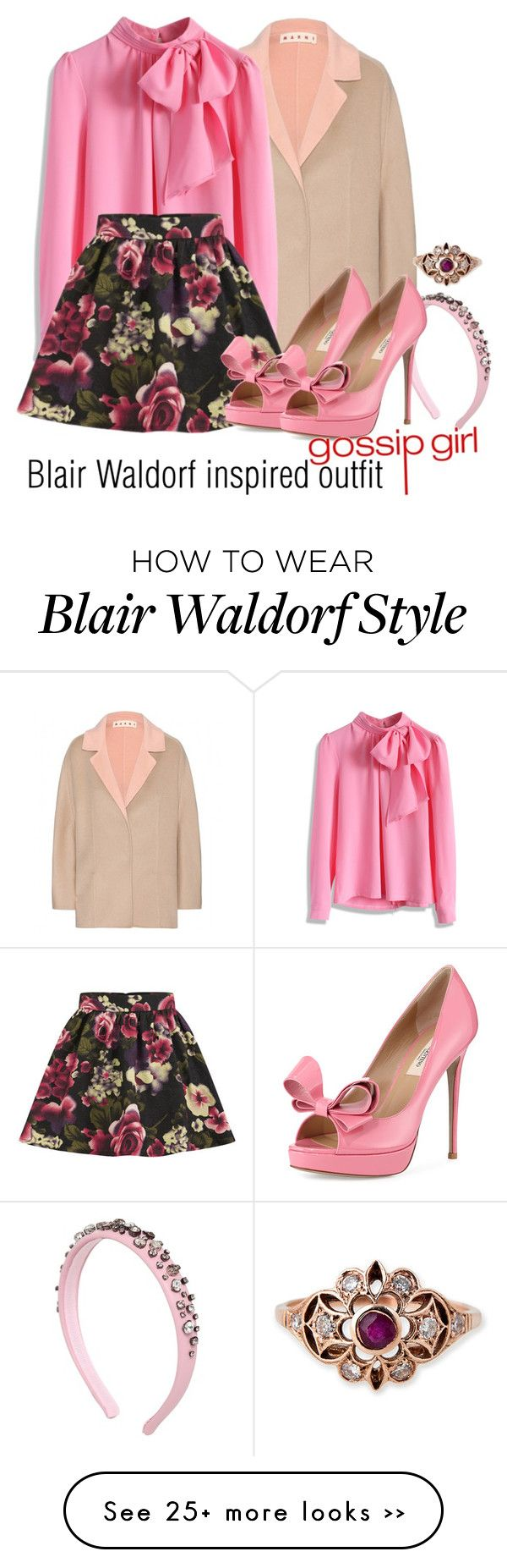"""Blair Waldorf inspired outfit/GG"" by tvdsarahmichele on Polyvore"