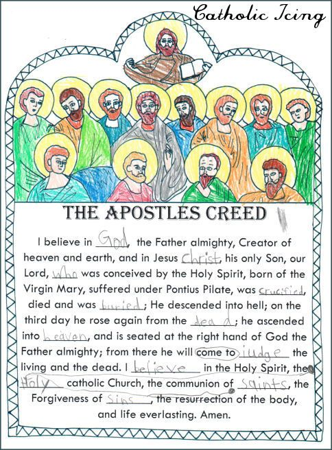 Printable Catholic Prayers for Kids: Posters and Copywork from CatholicIcing