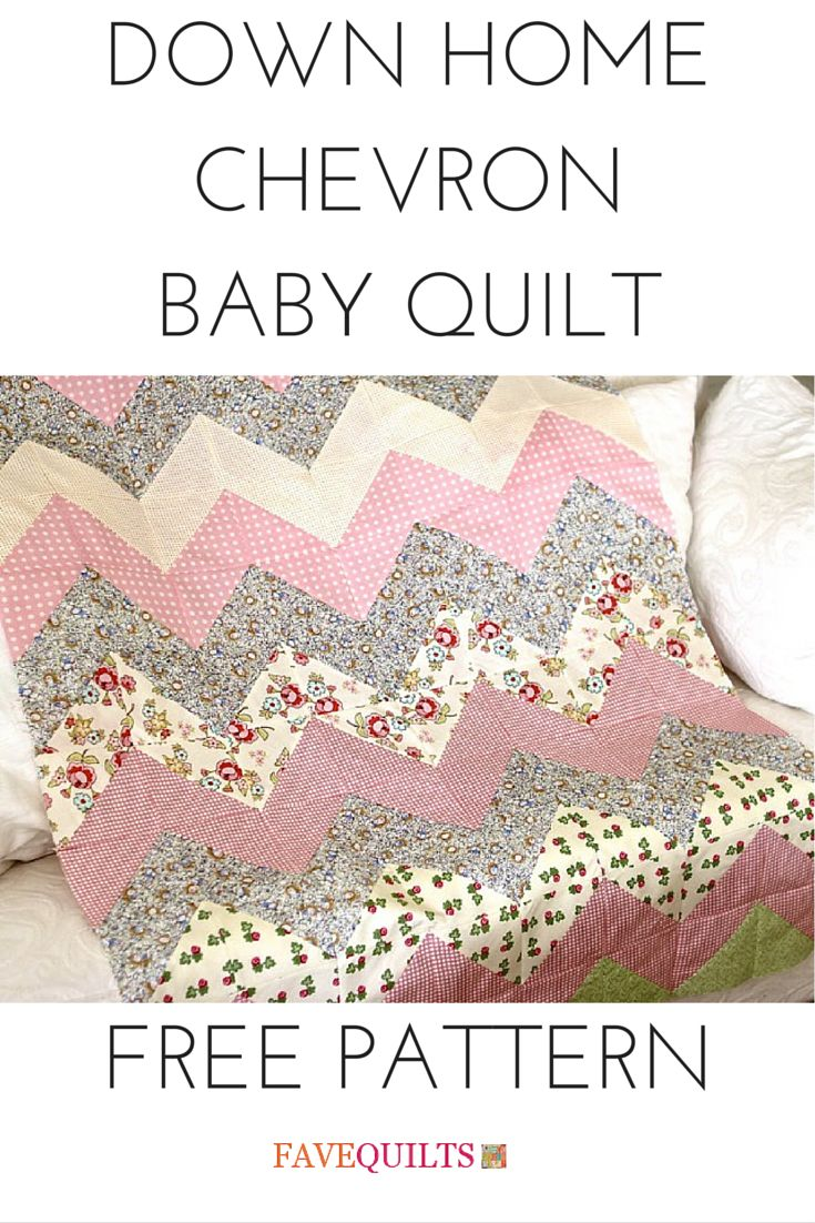 Chevron quilts are super popular these days. Free baby quilt pattern.