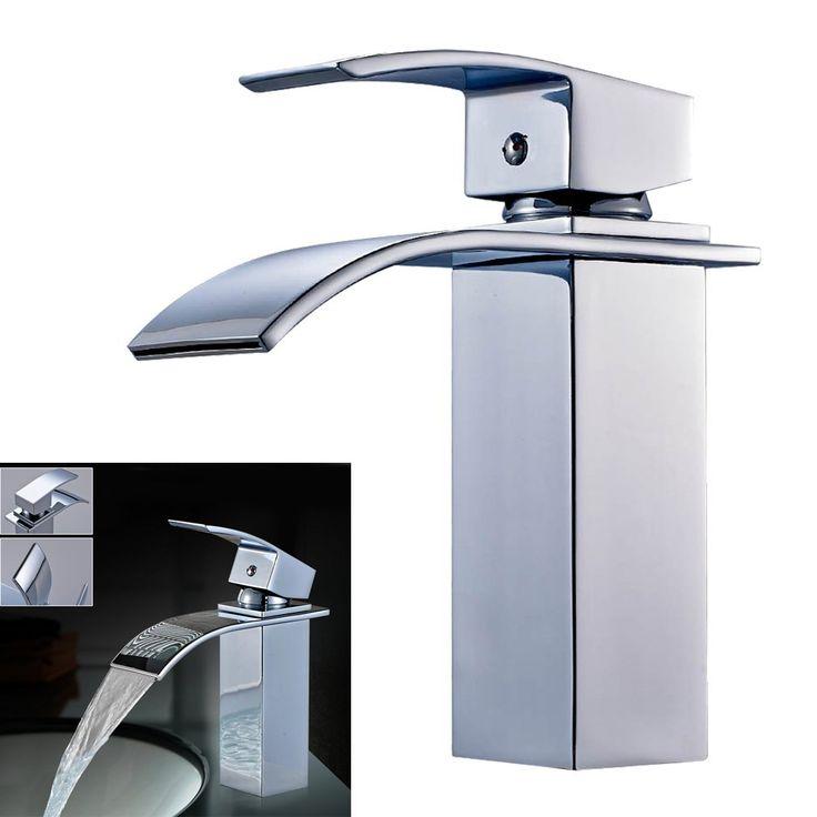 Auralum® Armatur Einhandmischer Wasserhahn Waschtischarmatur Waschbecken Waschtisch Wasserfall Bad: Amazon.de: Baumarkt
