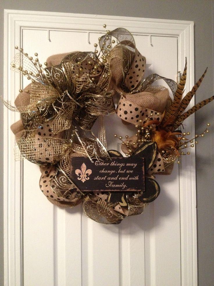 Burlap wreath- classy but fun