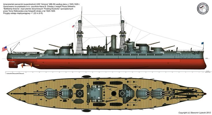 USS Arizona (BB-39) in 1925 by Lioness-Nala on DeviantArt