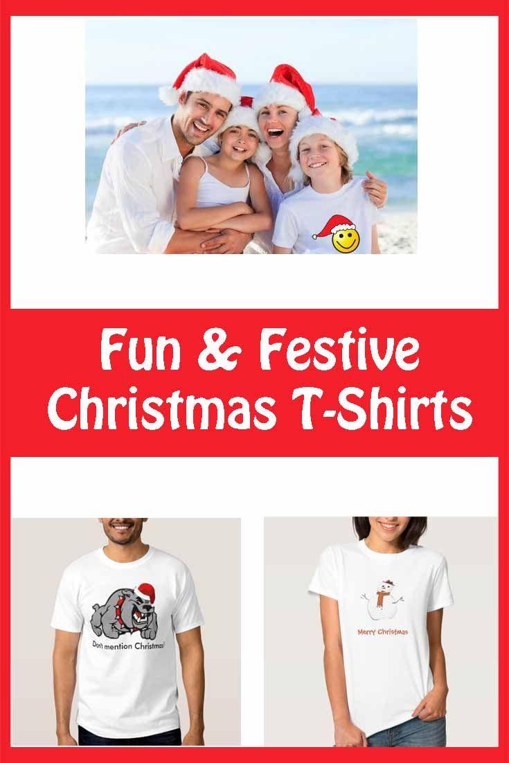 Selection of fun Christmas t-shirts