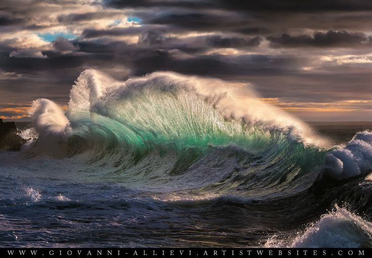 Rough sea 12 seascape with huge wave. Prints available at http://giovanni-allievi.artistwebsites.com/art/all/seascapes/all