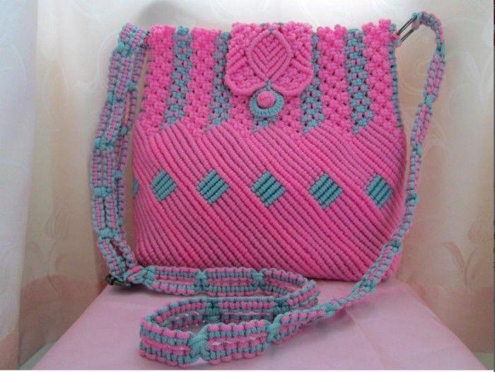 Tas tali kur - Koleksi lengkap Motif dan desain unik tas dari tali kur dengan motif bunga, keong, dan jagung serta pembahasan lengkap tentang cara membuatny
