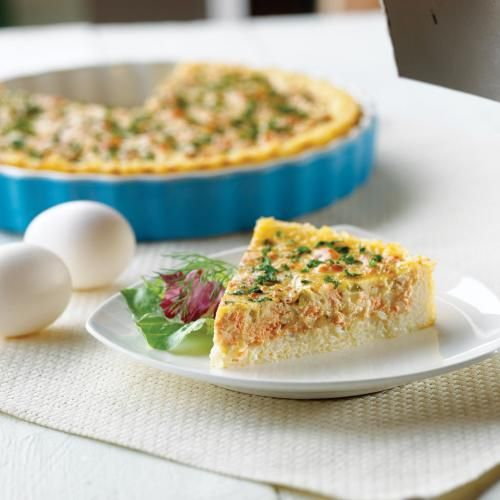 Salmon Dill Pie with Rice Crust